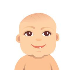 baby smile vector illustration