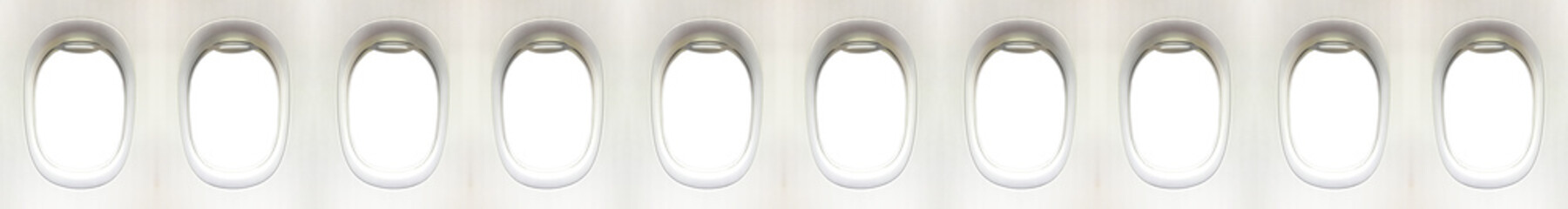 Airplane window and space for your design, clipping path