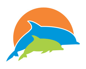 dolphins sihouette