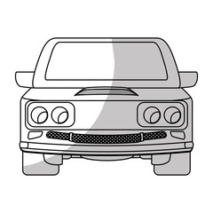 sedan or coupe car frontview icon image vector illustration design
