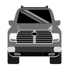 truck car frontview icon image vector illustration design