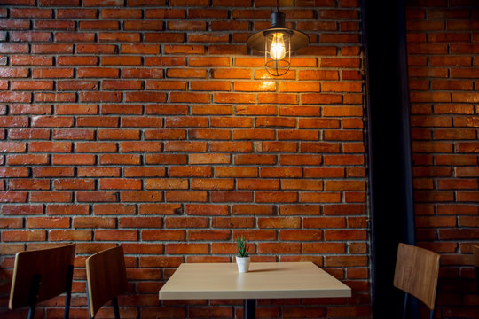 Cafe or Restaurant Decorate with Industrial loft style