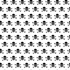 Crossbones and skull pattern