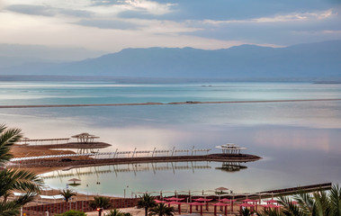 Early morning at the Dead Sea.