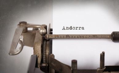 Old typewriter - Andorra