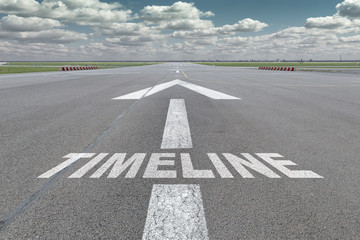 Airport runway arrow timeline