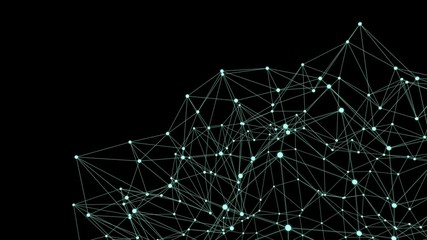 Futuristic sci-fi polygonal background with connection network.