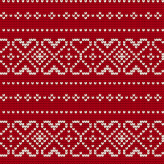 Traditional knitting pattern for Ugly Sweater