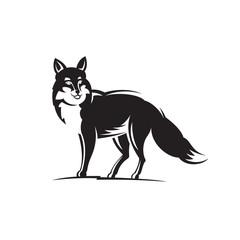Fox illustration on white background.