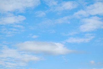 soft blue sky with cloud for background backdrop usage