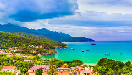 Wall Mural - Amazing view of Elba islands, Tuscany, Italy