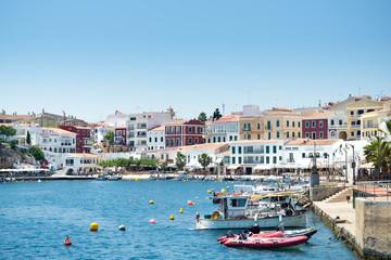 Es Castell, Mahon, Menorca Moll des Cales Fonts harbour at the balearic island Minorca