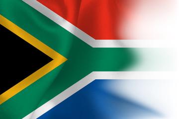 南アフリカ 国 旗 背景