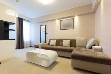 Modern hotel room interior