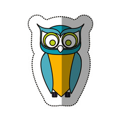 Owl cartoon icon. Bird animal and nature theme. Isolated design. Vector illustration
