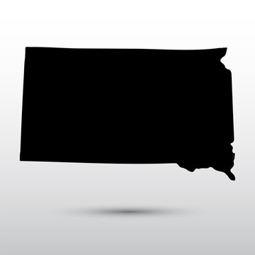 Map of the U.S. state of South Dakota