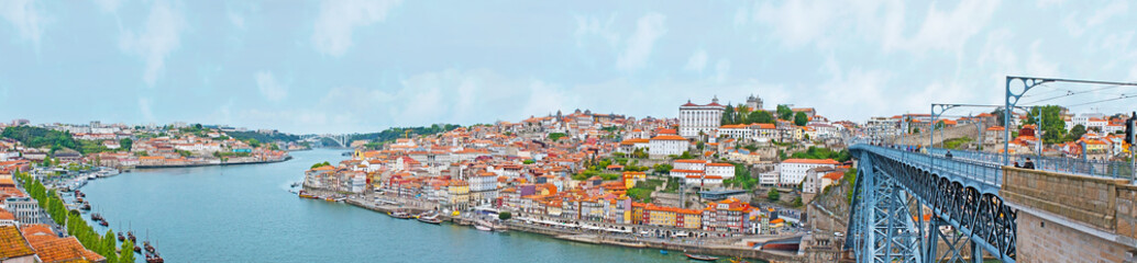 Panorama of old Porto