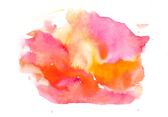 Red yellow watercolor texture background