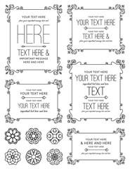 Flourish Floral Frames & Elements