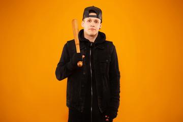 man with bat