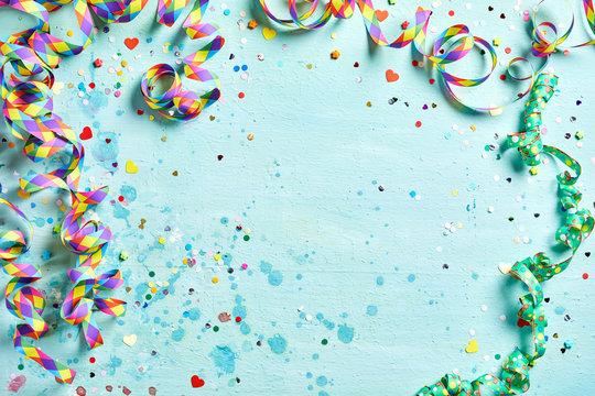 Festive party or carnival border