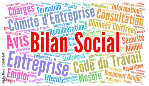 Bilan Social Nuage De Mots Photo Libre De Droits Sur La Banque D