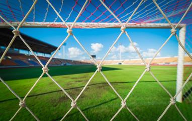 soccer net  at soccer stadium