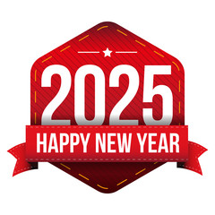 Happy New Year 2025 vector