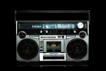 Silver Radio Cassette