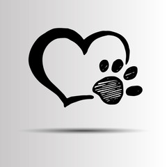 dog footprint print paw foot shape illustration