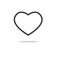 heart on white background. heart sign. Valentine heart simbol.