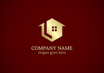home icon gold company logo