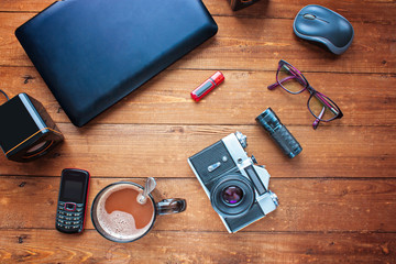 Equipment for work. Different objects and technically difficult
