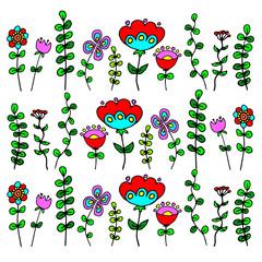 flower design vector leaf element illustration plant