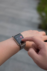 Using App on Apple Watch Outside