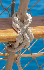 Rope for mooring a vessel