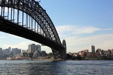 Sydney North shore under the bridge