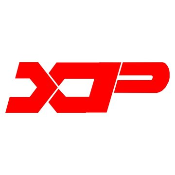 Vector initial letter XP logo icon red color design template