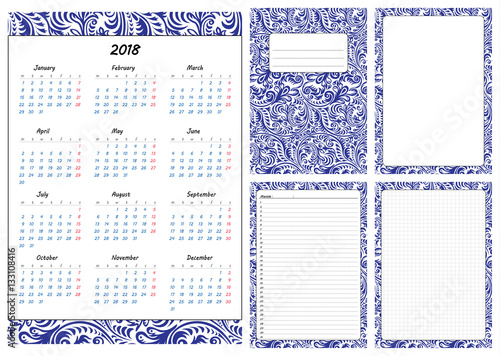 Set Of Pages Template For Daily Planner Printable For Scrapbook