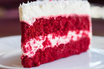 Red velvet slice of cake