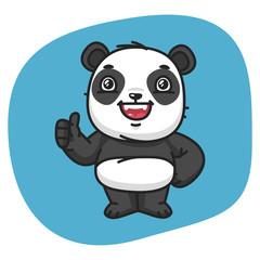 Panda Showing Thumbs Up
