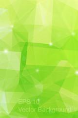 Triangulation green generic backdrop for design, colorful vector template