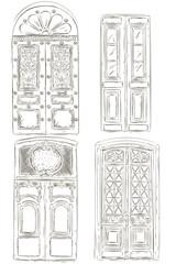 Set of vintage door.