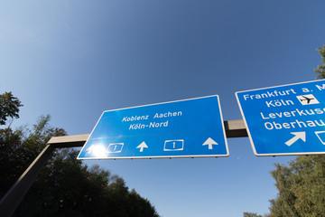 Autobahn Schild