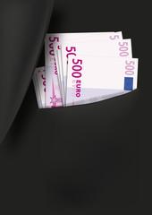 costume - Billet 500 euros - banquier - corruption