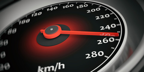 Car speedometer. 3d illustration