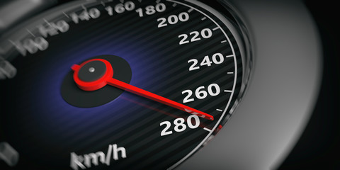 3d rendering car speedometer