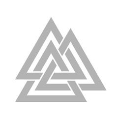 Valknut symbol vector