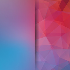 Abstract polygonal vector background. Colorful geometric vector illustration. Creative design template. Abstract vector background for use in design. Red, blue colors.