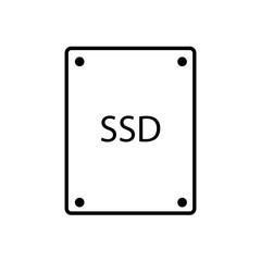 vector illustration of modern icon ssd